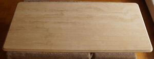 Natural travertine stone tabletop - 52x23x3/4 inches