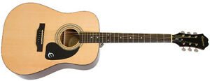 Epiphone DR-100 Acoustic Guitar with Bag, Tuner, String pack