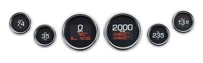 Dakota Digital Chrome MLX-8604 Plug-In 6 LED Gauge Cluster Harley FLH/T 04-13