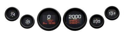 Dakota Digital Black MLX-8604-K Plug-In 6 LED Gauge Cluster Harley FLH/T 04-13
