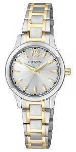 New Citizen Ladies Dress Two Tone Stainless Steel Watch  EL3034-58A