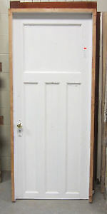 Vintage 4 Panel Wood Door in Frame