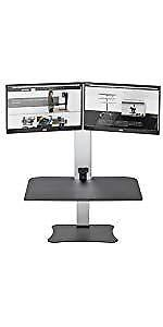 SIT STAND DESK CONVERTER-DUAL MONITOR