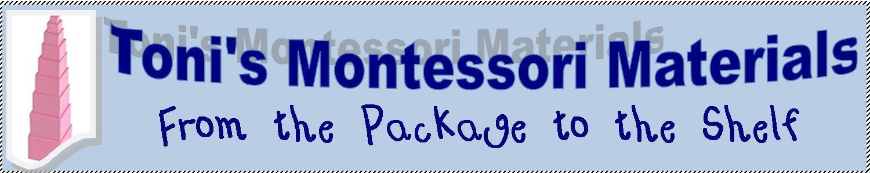 Toni's Montessori Matterials