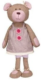 Spook Pocket Bear (Girl) Made from tweed and wool, 41 cms long Presented in beautiful gift box