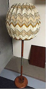 Black Friday Sale! Mid Century Teak Floor Lamp