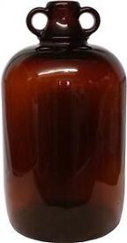 5l (1 gallon) Beer & Wine Brewing - Brown & Clear Glass Demijohns - for sale, £5 each