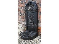 FLAT BACK CAST IRON GARDEN WATER TAPS AND PUMPS PATIO HEATERS URNS