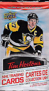 2016-17 TIM HORTONS UD UNOPENED SEALED HOCKEY CARDS