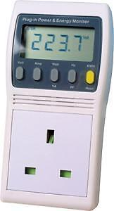 Electricity Power Energy Monitor Meter KWH Watt  NEW