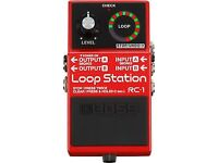 Boss RC 1 Loop Pedal, Nearly new used only once collection only