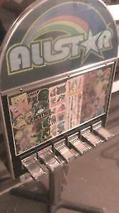 Allstar coin operated sticker temp tattoo vending machine