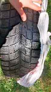 Winter Tires - Bridgestone Blizzak Tires on Rims - MUST GO