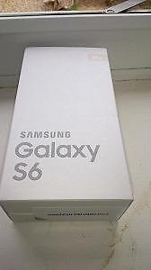 32 GB Samsung Galaxy S6 Black, brand new sealed box, unlocked.   CALL   647-875-7109
