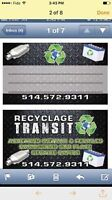 Recyclage Transit 514-572-9311 MONTREAL -WEST ISLAND