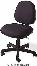 Home Office Chair Black Fabric