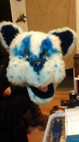 Mascot Head and Paws