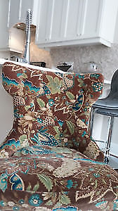 Gorgeous Brown Turquoise PierOne Hourglass Chair (Findlay Creek)