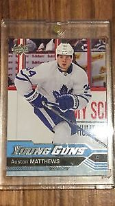 AUSTON MATTHEWS YOUNG GUNS ROOKIE CARD.NICE.