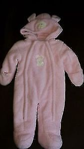 Pink Bunny  Bunting Suit - size 6 mths