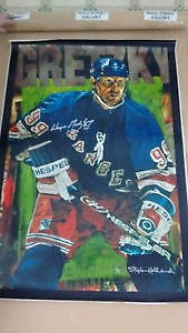 Wayne Gretzky Rangers by Stephen Holland 6/99