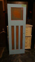 """antique 108yr old solid wood """"Mission"""" style 4panel Pantry Door"""
