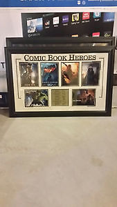 Comic Book Heroes Framed Picture