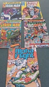 Comics - 4 Iron Man & 1 Alpha Flight Annual - $9