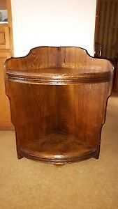 UNIQUE LOVELY ANTIQUE SOLID ELM END CORNER TABLE, DISPLAY STAND