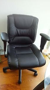As a New Black computer chair, adjustable back arms and height,