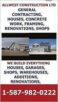GENERAL CONTRACTING, SHOPS, GARAGES, FRAMING, CONCRETE WORK