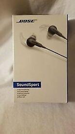 NEW & sealed Bose Soundsport Charcoal Black in ear headphones