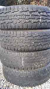 LT 265 70 17 nokian rotiva a/t with snowflake
