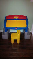 Little Tikes Desk/Hideaway Easel with chair