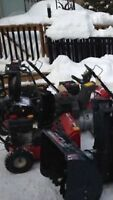 snowblower and lawn tractor repairs fast turn around