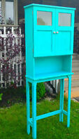 **DISTRESSED CHALK PAINTED CABINET**