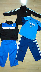 Boys Size 2,3,4 Jordans, Adidas, Childrens Place Geox Shoes London Ontario image 1