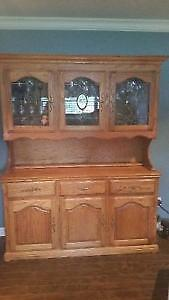 Solid oak buffet and hutch St. John's Newfoundland image 1