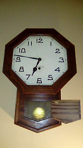 New Haven wind up wall clock