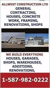 GENERAL CONTRACTING, SHOPS, WAREHOUSES, CONCRETE WORK, FRAMING