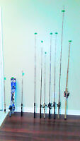 FISHING RODS AND REELS, LURES TACKLE & BOX