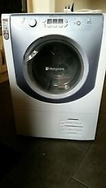 Hotpoint AQCF852BU 8kg White LCD Display Sensor Condenser Tumble Dryer 1YEAR GUARANTEE FREE DELIVERY