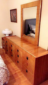 Roche Bobois vintage bedroom set solid wood (good condition)