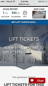 LIFT TICKETS FERNIE KICKING HORSE & MORE
