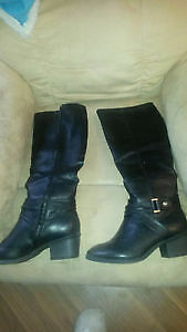 Womens Black Leather New Boots