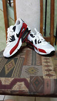 Men's Shoes White and Red Nike Air Max Size 9.5