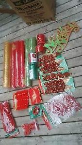 Lot of Christmas Mesh and Embelishments