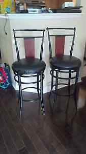 Two Gently Used Bar Stools