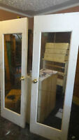 Two(2) matching solid wood French style 10panel  Interior Doors
