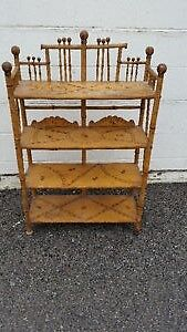 Antique Bamboo with Pine Shelves